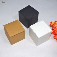 Wholesale Gift Packaging For Chocolates - 50pcs lot 7x7x7cm Cute small Kraft paper packaging box DIY Lipstick Perfume Essential Oil Bottle boxes for valve tubes too