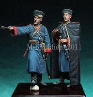 Wholesale Ww2 Soldier - Wholesale- 1 35 Scale WW2 Soviet Cossack soldiers WWii Figure Resin Model Kit Free Shipping