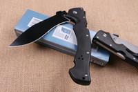 kurtarma bıçakları toptan satış-SOĞUK ÇELIK RAJAH II Büyük Taktik Katlanır Bıçak D2 Blade G10 Açık Survival Kurtarma Pocket Knife Askeri Yardımcı EDC Dogle ...
