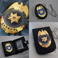 Wholesale US Department of justice federal law enforcement MARSHAL badge USMS law enforcement officer metal badges Halloween cosplay style