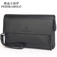 Wholesale Pu Leather Clutch Purse - FEIDIKABOLO Famous Brand Men Wallets Male Leather Purse Men's Clutch Wallets Carteiras Billeteras Mujer Clutch Man Handy Bags