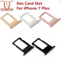 Compra Socket Di Sim Card-Per Apple iPhone 7 Plus Nano Sim Card Holder Slot Sostituzione Jet Black Rose Gold Silver Gold Gold Adattatore di colore Accessori per le prese
