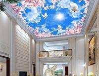 aislamiento d de estilo europeo para el techo magnolia amor palomas d papel tapiz para
