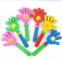пластиковые игрушки оптовых-Колотушка пластик рука хлопать игрушка развеселить ведущих хлопать для Олимпийские игры футбольный матч шумелка детские малыш Pet игрушка DHL бесплатно