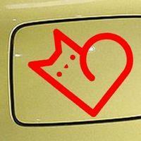 Wholesale White Waterproof Sticker Vinyl - Wholesale 10pcs lot Stroke Animals I Love My Cat White Heart Funny Car Sticker for Motorhome Motorcycles Car Decor Waterproof Vinyl Decal