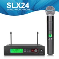 Wholesale High Quality Professional UHF SLX24 A Wireless Microphone System Cordless A Handheld for Karaoke ship by DHL EMS China post