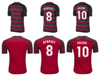 Wholesale National Soccer Team Uniform - Whosales New USA Jersey 2018 Soccer Jerseys Uniform,Chandal USA National Team Jersey Soccer Golden Cup 17 18 Football Shirt Dempsey Pulisic