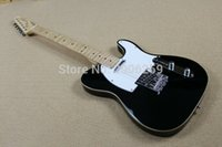 Wholesale Aged Black Guitar - OEM Factory Hot Sale tele guitar black color white pickguard tl guitar aged binding high quality free shipping in stock tl standard guitar