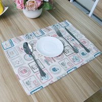 Wholesale Korean Small Table - Wholesale- Korean fresh small water bottle design tablecloths with placemats paragraph factory direct hot sale table pad coaster