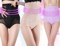 Wholesale Tall Waist Panties - Wholesale- Shapewear Slimming Seamless Corset High Waist Body Shaping Knicker Tall waist belly in carry buttock underwear model body pants