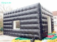 Wholesale Show Tents - 6m PVC Tarpaulin Showing Inflatable Cube Booth Room for Advertisement