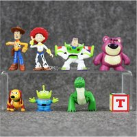 Wholesale Buzz Toy Story - EMS 2.5-6.5cm Toy Story Woody Buzz Lightyear Jessie PVC Action Figure Collectable Model Toy for kids gift free shipping