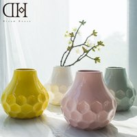 Wholesale Wholesale White Ceramic Vase - Genuine Dream house DH VS156328 white modern ceramic vase porcelain flower bottle for home decoration wedding decoration