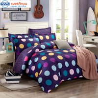 Wholesale Single Fitted Sheets - Wholesale- colorful Endless print bedding set for single double bed,pure Cotton fabric bed sets (duvet cover+flat fitted sheet+pillow sham)