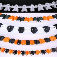Wholesale Halloween Scene Decoration Props Bar Interior Pull Flower Ghost Head Spider Pumpkin Bats Ghost Pull Flower