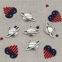 Saturn Charms Kaufen -Wholesalecs-317pcs Charms Saturn Planeten Funke 20 * 13mm Anhänger, Vintage tibetischen Silber, für DIY NecklaceBracelets Schmuck Zubehör