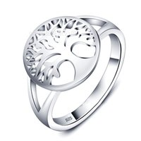 Wholesale Modern Asian Fashion - 2017 size 5~ 9 design fashion 925 Sterling Silver life of tree lasies finger ring modern jewelry Christmas Gift