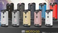 cajas de teléfono moto g3 al por mayor-Slim Armor Dual Layer Estuche rígido para LG Phoenix 2 K6P K371 MOTO E3 G3 Hybrid TPU + PC Aluminum ShockProof Rose Gold Estuche protector para el teléfono Luxury