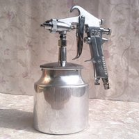 Wholesale Spray Paint Alloys - High quality 1.5mm spray gun Air Brush Alloy Painting Paint Tool w t 750ml cup F-75