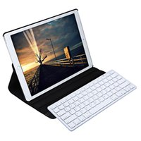 Wholesale Ipad Leather Stylus - Wholesale- For iPad Pro 12.9 Inch Smart Case Cover 360 Degree Rotating Wireless Bluetooth Keyboard Stylus Pen PU Leather Protective Case