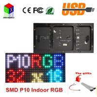 Wholesale Indoor Advertising - RGB P10 full color LED module for Advertising media LED Display indoor 1 8 scan 320x160mm 32x16 pixel dots