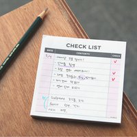 Wholesale memo notepad resale online - Hot selling Small Memo Pad Office Desk Tear off Check List To do list Notepad School Stationery Small Week Month Planner