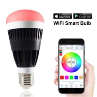 Wholesale MagicLight WiFi Smart LED Light Bulb Control by Smart Phone Dimmable Multicolored Smart Sunrise Sunset LED Light W W equivalent
