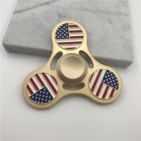 Wholesale National Flag Big - Metal National Flag Spinners Zinc Alloy Hand Spinner United States Canada Italy India Metal Spinners EDC Decompression Fidget Toy
