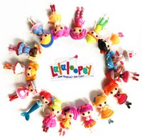 Wholesale 16pcs New cm MGA mini Lalaloopsy Doll the bulk button eyes toys for girl classic toys Brinquedos different style