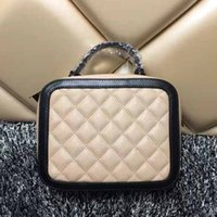 Wholesale Red Diamond Shape - Diamond lattice quilted caviar bag sling box shaped handbags women chain shoulder bags famous brand leather crossbody bags small purse
