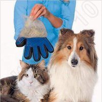 Wholesale Dog Brush Removal - New Arrival Deshedding Pet Glove True Touch For Gentle And Efficient Grooming Removal Glove Bath Dog Cat Brush Comb CCA5591 200pcs