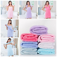 Wholesale Wholesale Fleece Sheets - 75*150cm Soft Bath Towels Coral Fleece Towels Of Strong Water Imbibition Bath Sheets Absorbent Shower Towel Home Textiles CCA6537 30pcs