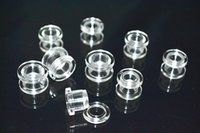 Wholesale Tunnels 24mm - 100pcs Acrylic Ear Gauges Tunnels Earlets Ear Plugs Expanders Gauges Piercing 2mm up to 24mm