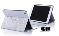 Wholesale Ipad Cover Glitter - Wholesale-Fashion For Ipad Mini 1 2 3 Diamond Pattern Flip Leather Case Cover Glitter Simple Smart Stand Leather Case