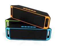 usb güç subwoofer toptan satış-YENI SC208 SC-208 Mini Taşınabilir Bluetooth Hoparlörler Kablosuz Akıllı Eller-Serbest Hoparlör Büyük Güç Subwoofer Destek TF ve USB FM Radyo Ücretsiz DHL