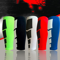 Wholesale Exercise Bicycles - 1 PC football Basketball Sport Bicycle Calf Leg Brace Support Stretch Sleeve Compression Exercise Leggings free shipping