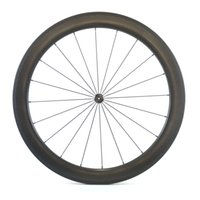 Wholesale Foot Surfaces - Free shipping 700C 58mm depth road bike 25mm width clincher dimple surface carbon wheels with Novatec271 372 wavy crow's feet wheelset