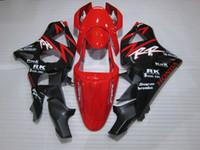 Wholesale Cbr954rr Fairings - Hot sale plastic fairing kit for Honda CBR900RR 02 03 red black fairings set CBR 954RR 2002 2003 OT14