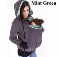 Wholesale Pregnancy Coat - Baby Carrier Jacket Women Kangaroo hoodies Maternity Pregnant Pregnancy Zipper Coat Women Carry Baby Sweatshirt