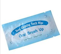 Wholesale 5000Pcs Oral Brush Up Teeth Wipe Finger Deep Cleaning Teeth Wipes Teeth Whitening Dental Wipes Oral Hygiene