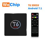 Wholesale Original Set Top Box - Original T6 TV Box Android 7.1 Smart TV Box 2GB RAM 16GB ROM Amlogic S905X Quad core Cortex A53 4K 2.4GHz WiFi Smart Set Top Box 2G 16G