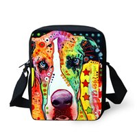 Wholesale Dog Bags For Sale - Hot Sale 3D Printing Painting Type Rainbow Dog and Cat Liten Veske For Walking Trip, Polyester Cloth Musette Bag