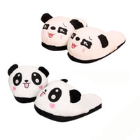 Wholesale Wholesale Fresh Shoes - Wholesale-fresh Women Panda Winter Warm Plush Antiskid Indoor Home Slippers Coral Foam anti-skid Warm shoes Anne