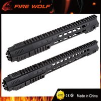 Wholesale Airsoft Handguard Rail - FIRE WOLF New Picatinny rail 14inch&17inch HandGuard Rail System Black for Airsoft AEG M4 M16 Hunting