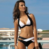 Wholesale Ladies Wearing Sexy Swimsuit - Women's Clothing 2017 Summer fashion plus size sexy bandage Swimwear bathing suits bikini brazilian swimsuits for women ladies swim wear #14