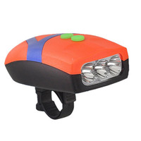 Novo Ultra Bright 3 LED Bike Light Bicicleta Bicicleta Luz Front Head Light Ciclismo Lamp + Electronic Bell Horn Hooter Siren
