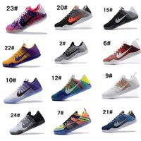 2017 Kobe XI Elite Bas ID Chaussures de Basket Hommes Dernière Empereur GCR Pâques Achille Talon Noir Blanc Lakers Purple Athletics Sneakers