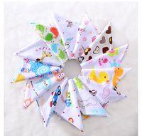 floral cotton layer Australia - PrettyBaby Organic Cotton Double Layers Kids Baby Bibs Towel Bandanas Triangle Burp Saliva Infant Toddler Bandana Scarf