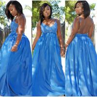 Wholesale Maxi Dress Nightclub - 2017 New Summer Dresses Plus Size Blue Party Nightclub Dresses 3D Flowers Sleeveless Long Maxi Vestidos