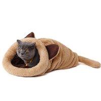 köpek yatakları tasarımı toptan satış-Sevimli Kedi Uyku Tulumu Sıcak Köpek Kedi Yatak Pet Köpek Evi Güzel Yumuşak Pet Kedi Mat Yastık Yüksek Kaliteli Ürünleri Güzel Tasarım